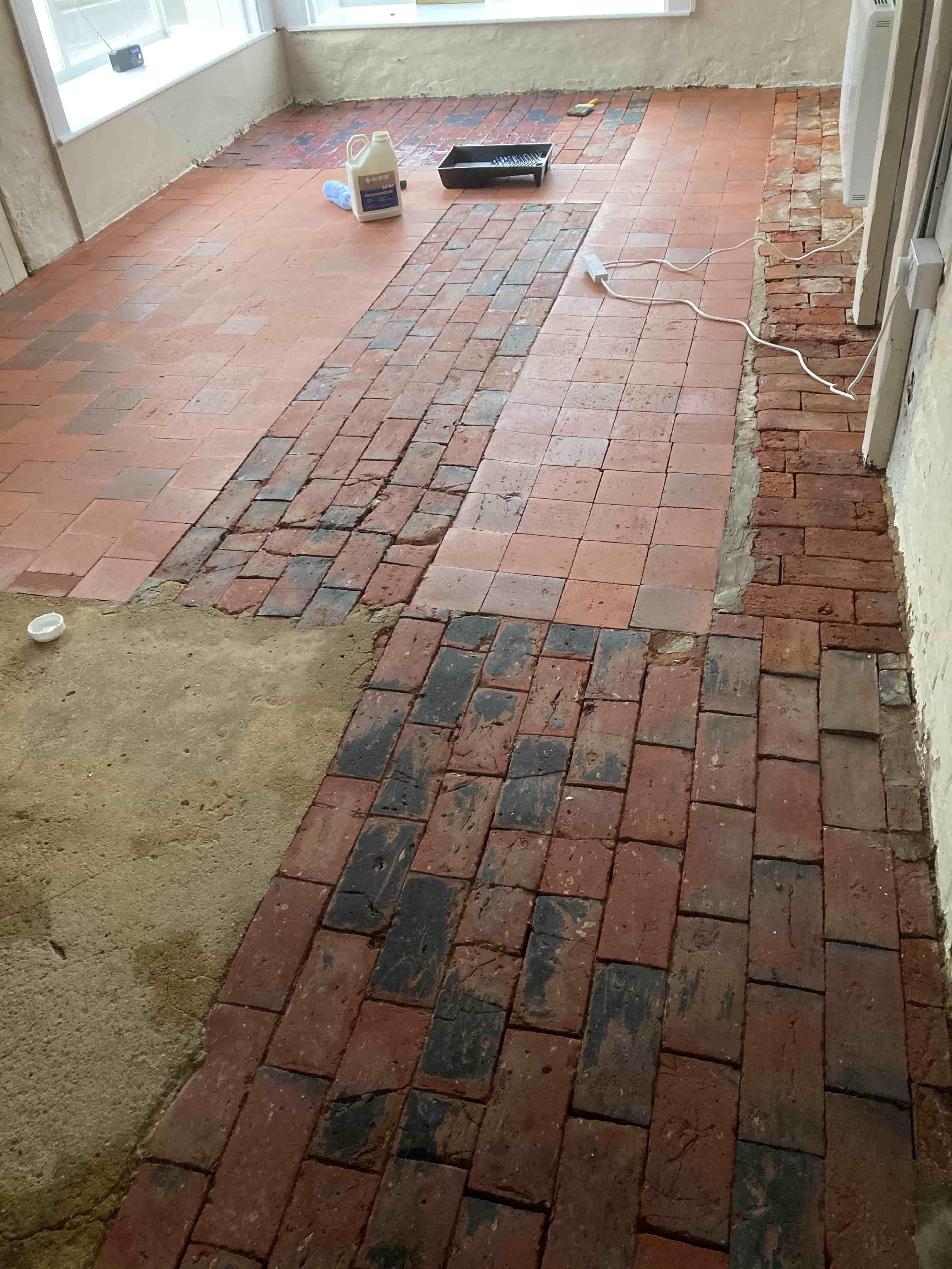 Brick Quarry Floor During Renovation Royal Tunbridge Wells