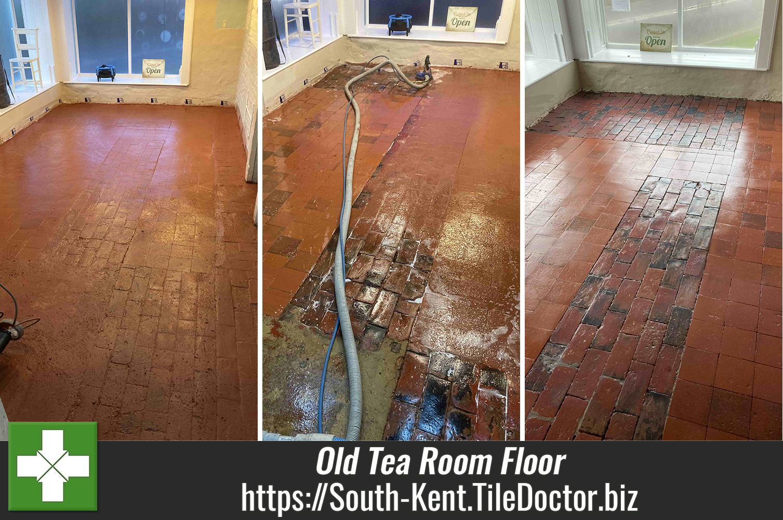 Old Tea Room Brick Floor Renovation in Royal Tunbridge Wells