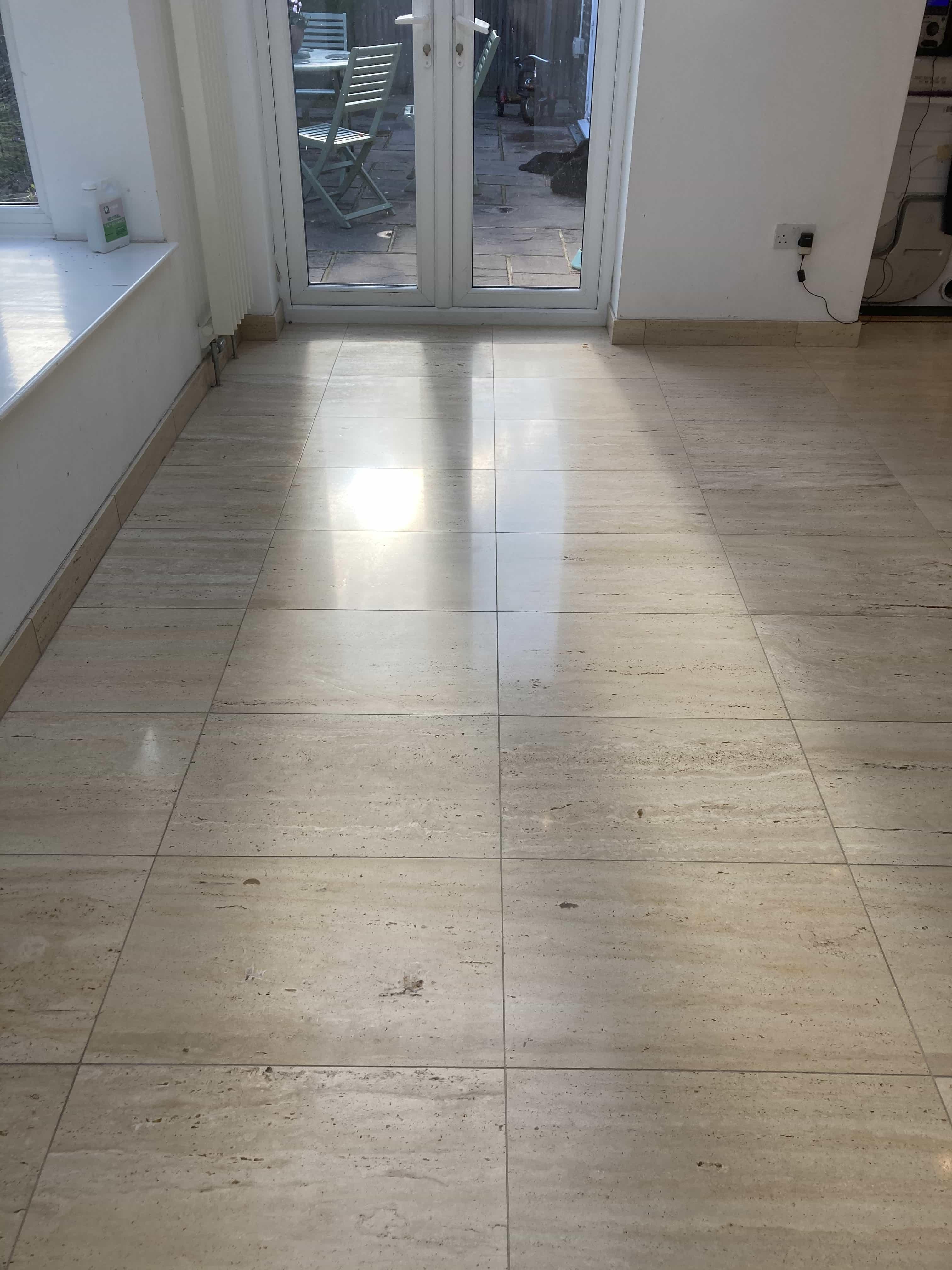 Limestone Floor After Polishing Tenterden