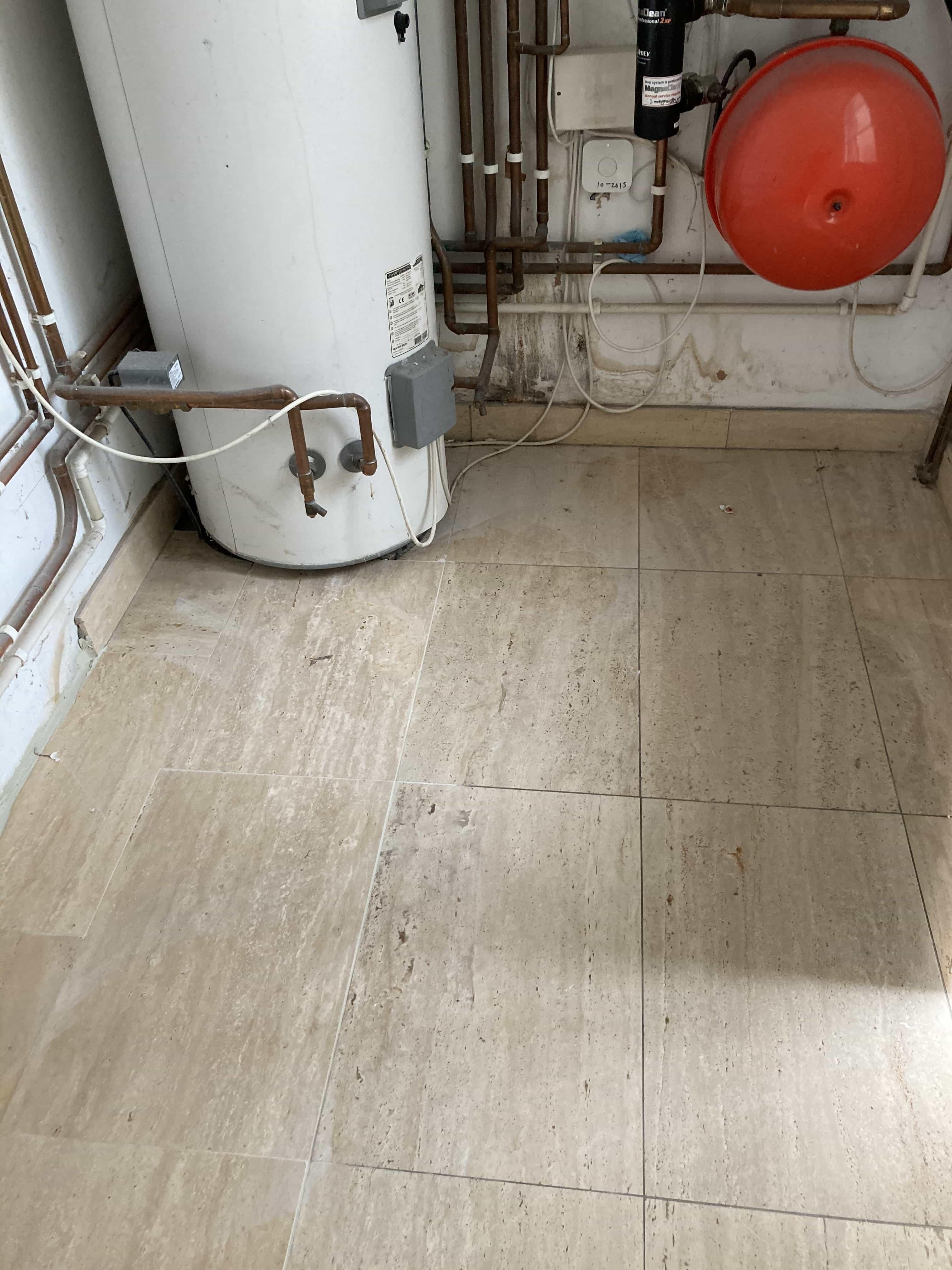 Limestone Floor Before Polishing Tenterden