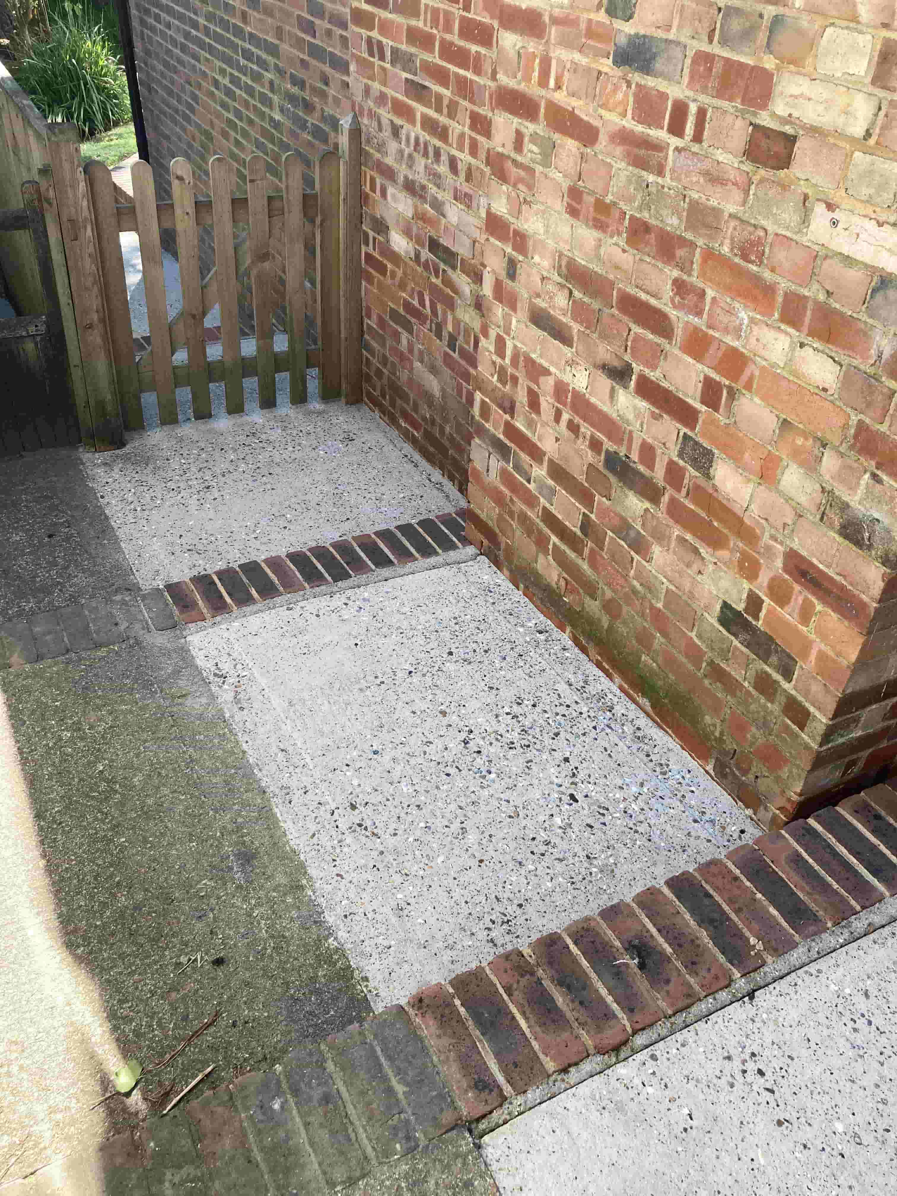 Concrete Path and Steps After Cleaning Folkstone