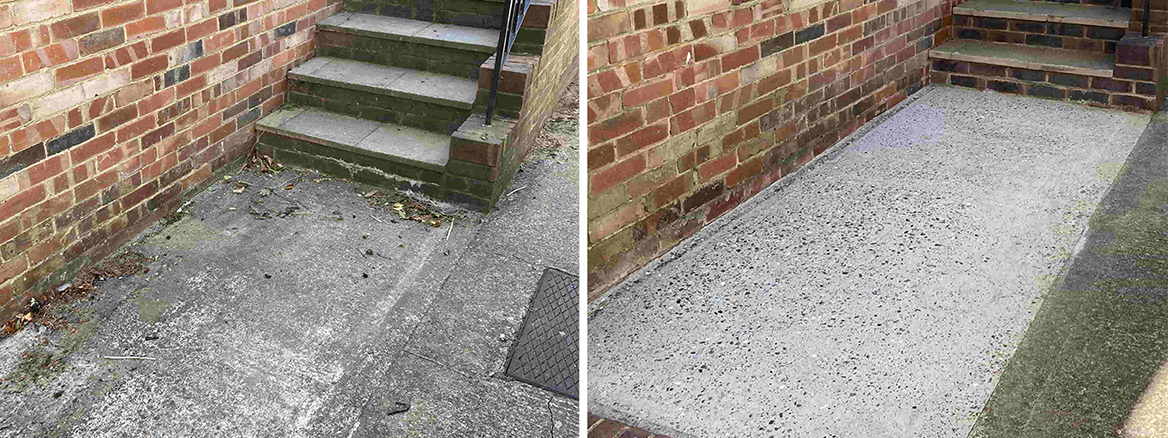 Deep Cleaning a Concrete & Brick Path in Folkestone