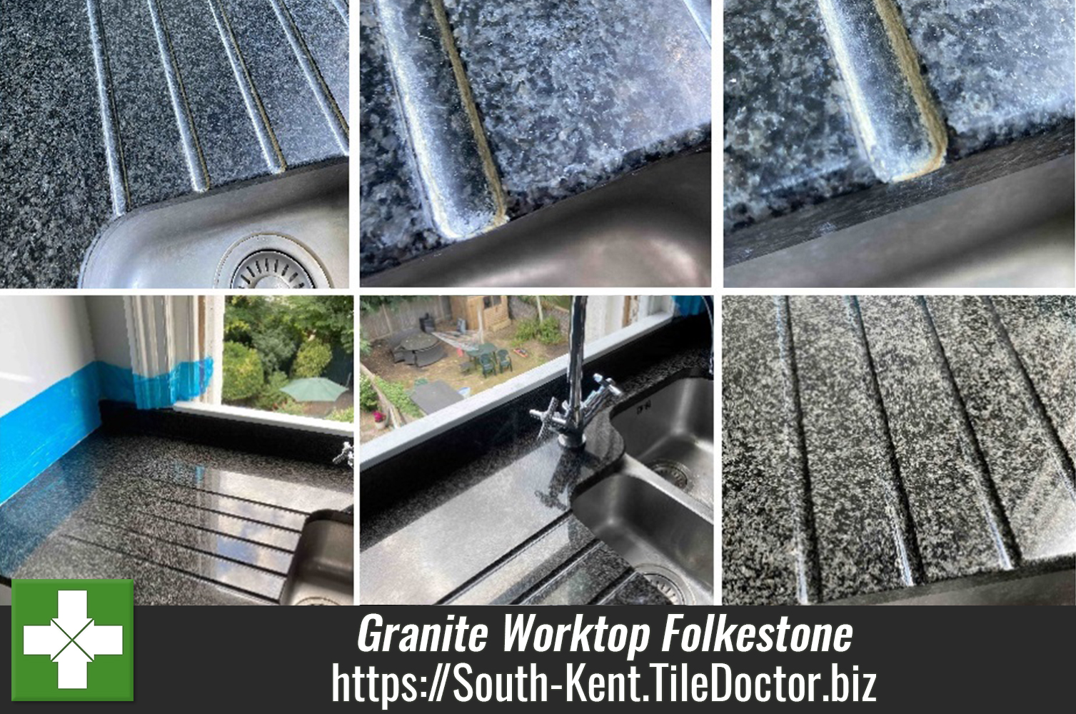 Removing Limescale from Granite Worktops in a Folkestone Kitchen