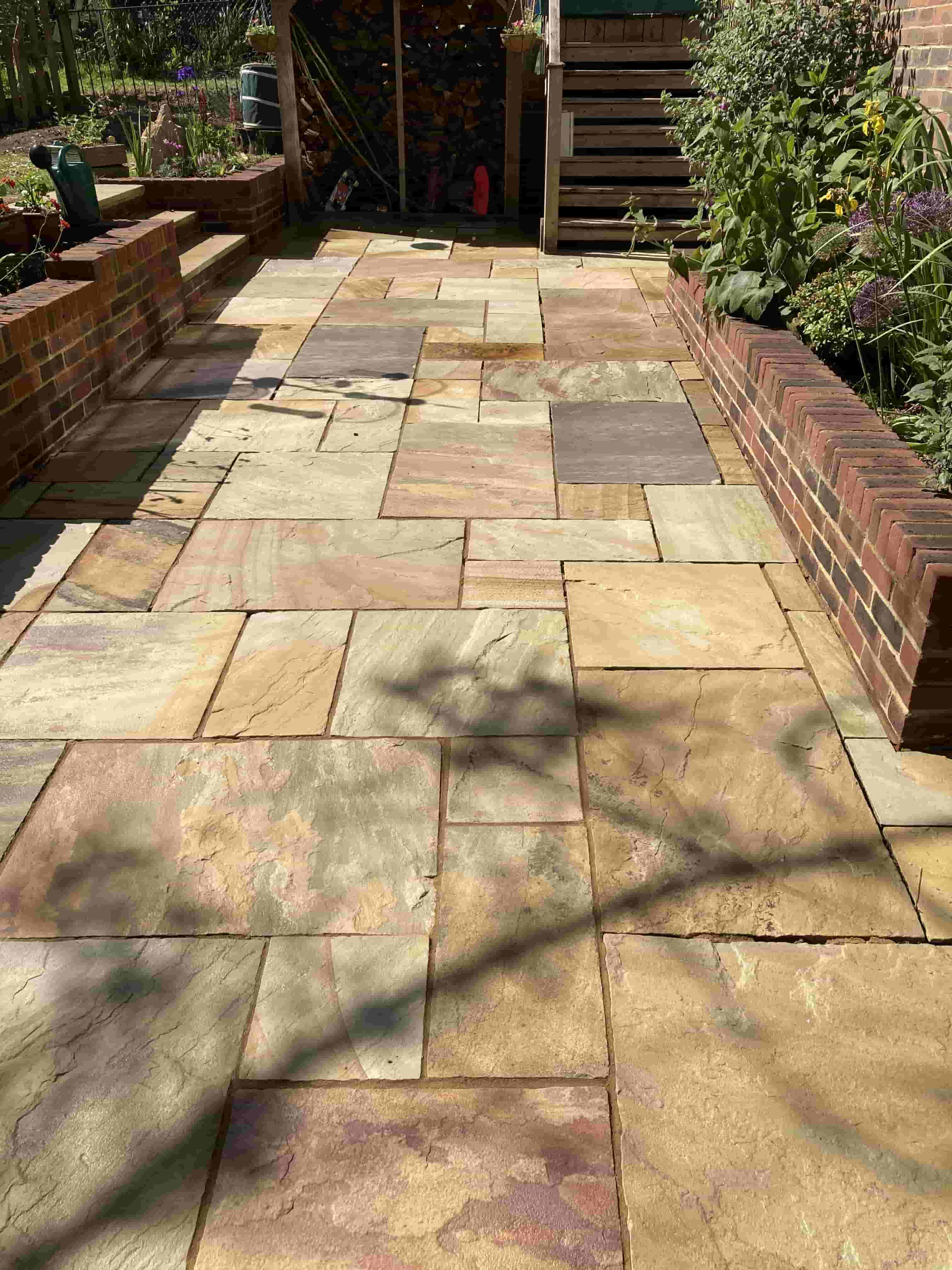 Indian Sandstone Patio After Cleaning Southborough