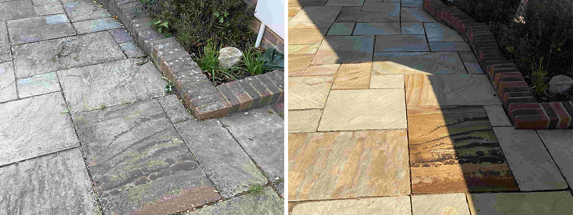 Indian Sandstone Patio Renovation in Southborough