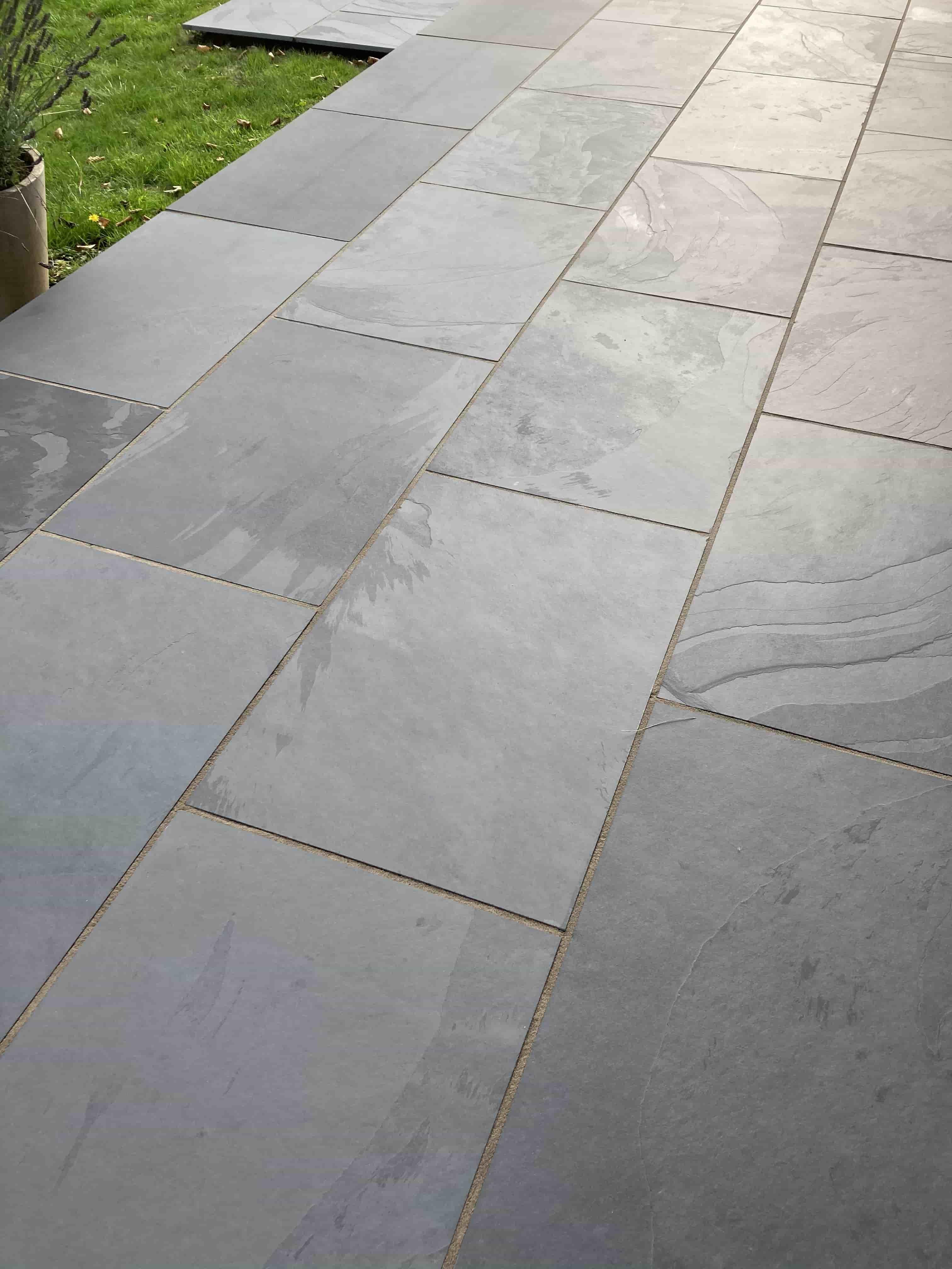 Slate Patio After Renovation Pembury
