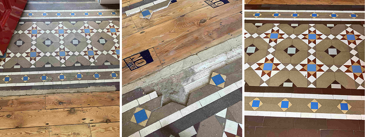 Victorian Hallway Floor Repair and Restoration in Tonbridge