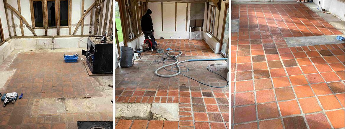 Barn Conversion Tiled Floor Renovated in Hawkinge